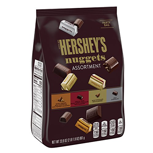 HERSHEY'S Nuggets Chocolate Candy Assortment, 33.9 Ounce Bulk Candy (Milk Candy Chocolate)