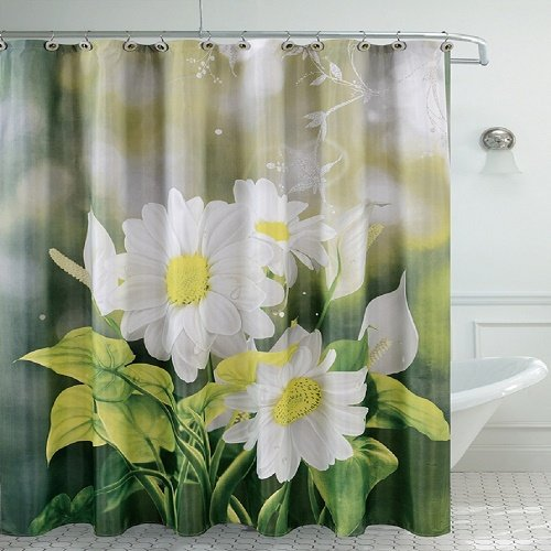 Used, Daniel's Bath Fancy Bath Room Shower Curtain, Daisy for sale  Delivered anywhere in USA
