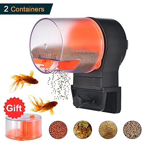 Mylivell Automatic Fish Feeder,Fish Feeder,Aquarium Tank Vacation Battery Operated Fish Food Timer Dispenser,Auto Fish Turtle Food Feeder for Weekend or Holiday (Fish Food Feeder Timer)