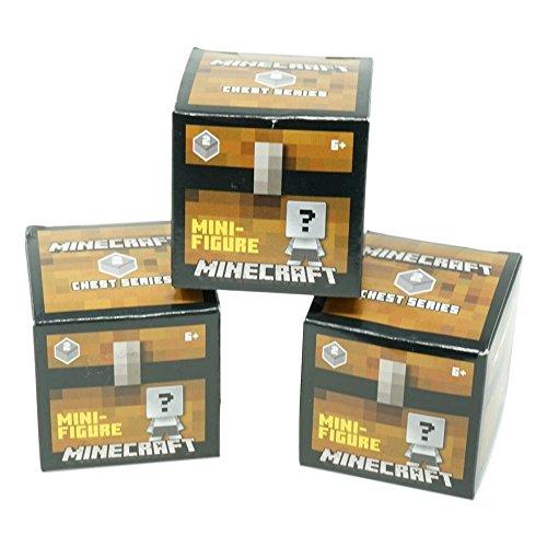 Minecraft Mini Figure (3 Pack) Chest Series 2, Grey