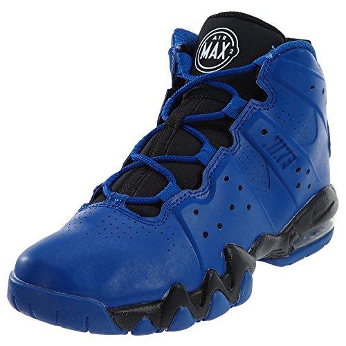 Nike Barna Air Max Barkley (ps) Basketball Sko Spillet Royal / Hvit-svart