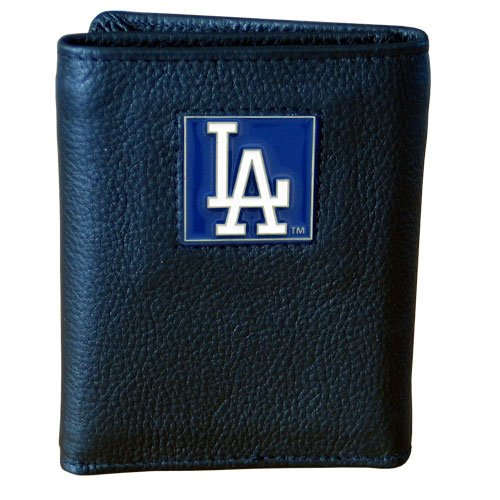 MLB Los Angeles Dodgers Tri-fold Wallet (Los Angeles Dodgers Leather)