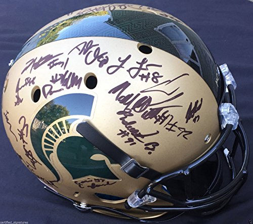 2015-16-MICHIGAN-STATE-SPARTANS-XP-GOLD-FULL-SIZE-HELMET-LJ-SCOTT-THOMAS-COA-J2