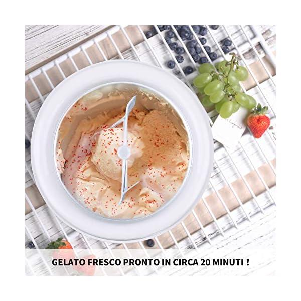 VPCOK Macchina del gelato 1,5L Gelatiera Autorefrigerante Macchina Gelato Macchina del Gelato con Bocca sul Grande… 6