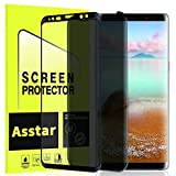 Galaxy S8 Privacy Screen Protector, Asstar Full Glue Tempered Glass Anti Spy Anti-Scratch No Bubble Case Friendly Easy Install 3D 9H Hardness Screen Protector for Samsung Galaxy S8 [2 Pack]