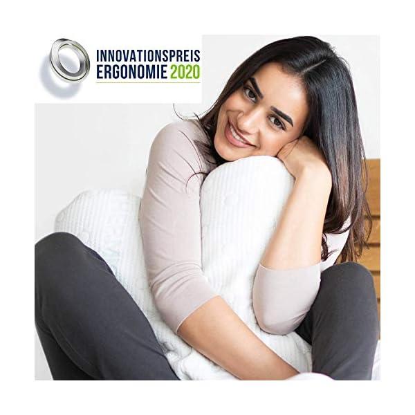 Coussin à Mémoire de Forme ACAMAR | Oreiller Cervical Ergonomique Orthopédique | Mousse Viscoélastique | Idéal pour…