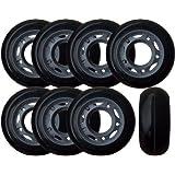 KSS 64mm 82A Inline Skate Rollerblade Wheels with 5-Spoke Hub (8 Pack), 64mm, Black/Grey/Red