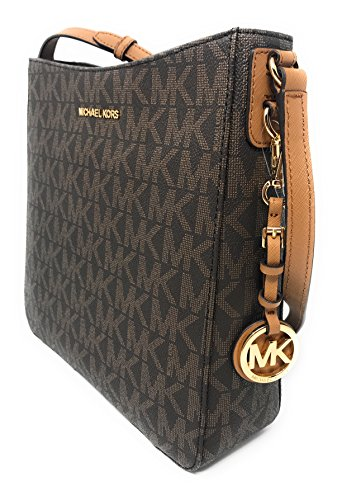 ba9852adfee68 Michael Kors Jet Set Travel PVC Large Messenger - Brown Acorn ...