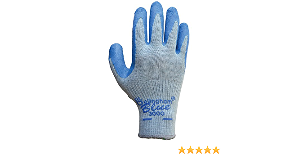 3 Pack Bellingham Gloves NEW Free Shipping Latex Palm Large Work Gloves