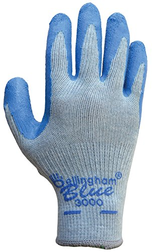 Bellingham C3000XL Blue Premium Seamless Knit Work Glove with Natural Rubber Blue Latex Palm, - Outlets Bellingham