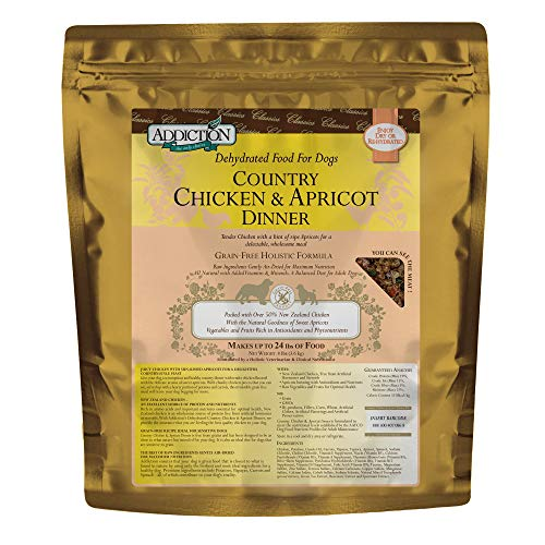 Addiction Country Chicken & Apricot Grain Free Dehydrated Dog Food, 8 Lb.