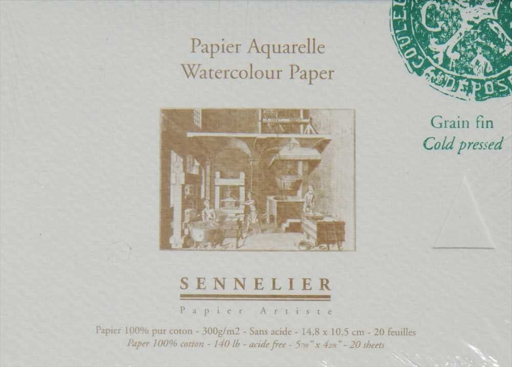 Papel Acuarela Sennelier 300 g//m2 fino Bloc 20 hojas