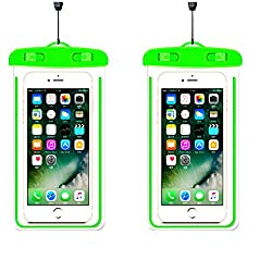 [2Pack]Universal Waterproof Case, iEugen Cellphone Dry Bag Pouch for iPhone X, 8/7/7 Plus/6S/6/6S Plus, Samsung Galaxy S9/S9 Plus/S8/S8 Plus/Note 8 6 5 4,Google Pixel 2 HTC LG MOTO up to 5.7 ¨CGreen