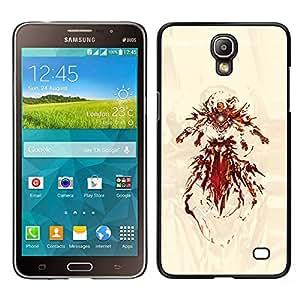 CASECO - Samsung Galaxy Mega 2 - Superhero Iron - Delgado Negro Plástico caso cubierta Shell Armor Funda Case Cover - Superhero Hierro