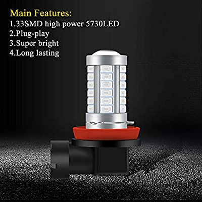 KaiDengZhe Super Bright Green H11/H8 Fog Light Bulbs DRL 5730 33-SMD 12V Daytime Running Lights Fog Lamp Driving DRL LED Lights Bulbs Replacement for Cars,Truckss: Automotive
