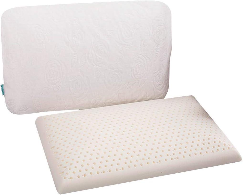Slim Sleeper - Cuscino in schiuma di lattice naturale, extra sottile, ventilato, a basso profilo, 23 X 15 X 2,7 pollici