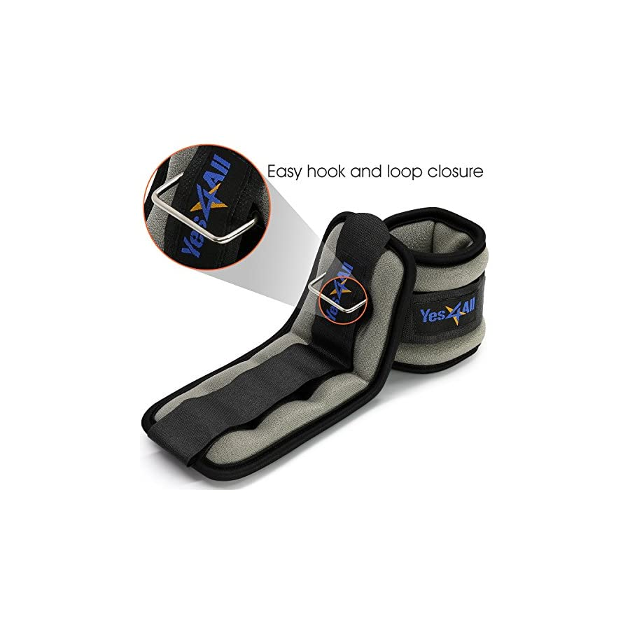 Yes4All Comfort Fit Ankle/Wrist Weights (Set of 2) – Multi Weight & Color Available