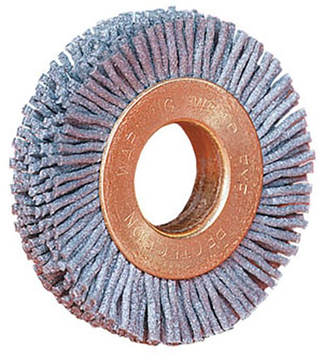 Weiler 17629 Nylox Wheel Brush, 2'' Small Diameter, 0.22/120SC Crimped Fill, 5/8'' Arbor Hole (Pack of 10)