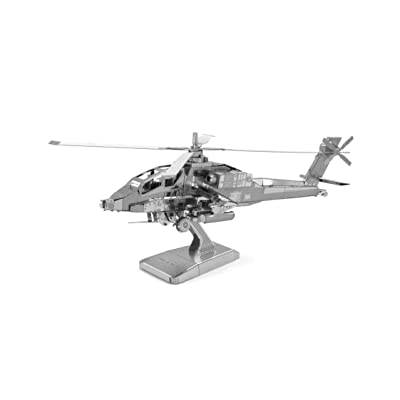 Metal Earth: AH-64 Apache, 3D Laser Cut Model: Toys & Games