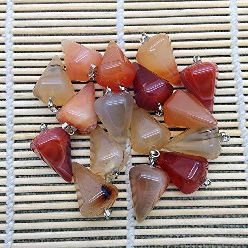 Colorful Stone Earrings Pendant | Mixed Color Stones Crystal Opal Charm (Carnelian)