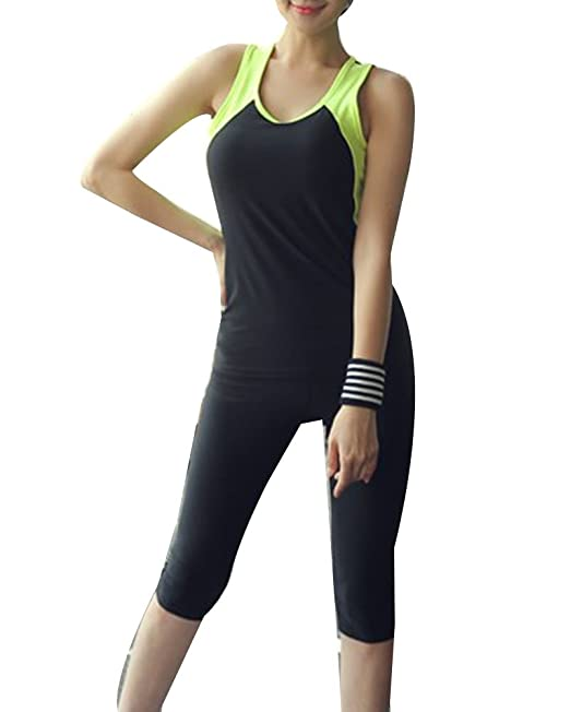 Gladiolus Camiseta Fitness para Mujer Yoga Pilates Deportes Camiseta + Pantalones Leggins Deporte: Amazon.es: Ropa y accesorios