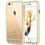 JETech Case for Apple iPhone 6 Plus and iPhone 6s Plus 5.5-Inch, Shock-Absorption Bumper Cover, Anti-Scratch Clear Back, Gold