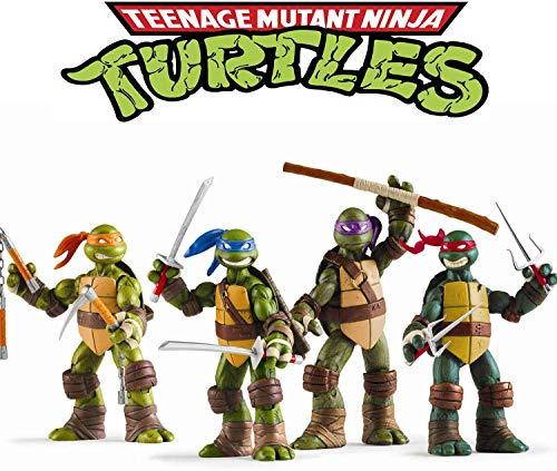 SANTA LOLLA Ninja Turtles 4 PCS Set – Teenage Mutant Action Figure – Action Figures – Ninja Turtles Toy Set – Ninja Turtles Action Figures Mutant