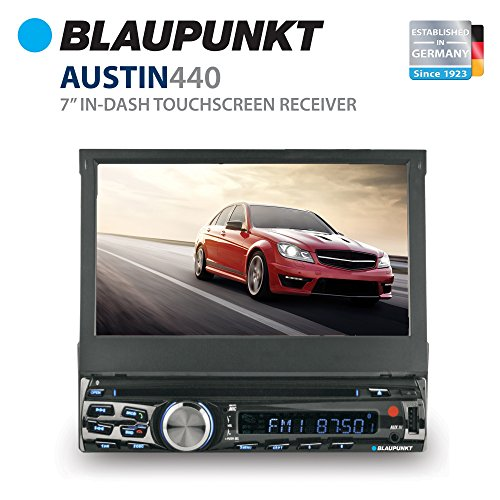 Blaupunkt AUSTIN 7-Inch In Dash Touch Screen DVD Multimedia Car Stereo Receiver with Remote Control and Removeable Faceplate
