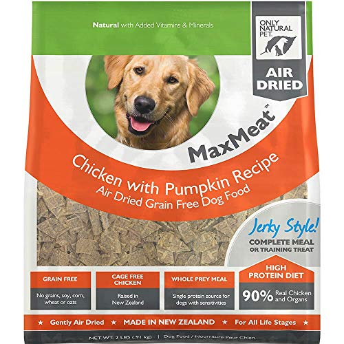 - Only Natural Pet MaxMeat Holistic Grain-Free Air Dried Dry Dog Food - Made with Real Meat - Chicken with Pumpkin & Parsley 2 lb