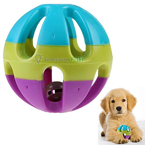 Toy Ball for Dogs with Jingle Bell - Dental Treat, Bite Resi