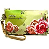 ArtsEye Women's Zip Wristlet Wallet Clutch Purse