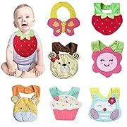 Baby Cute Cartoon Soft Saliva Towel Infant Lunch Bibs.