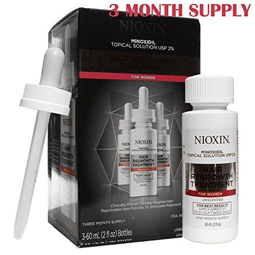 Nioxin Minoxidil Hair Regrowth Treatment for 2% Women, 6 Oun