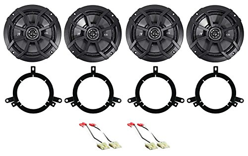 "Kicker 6.5"" Front+Rear Speaker Replacement Kit For 1996-1998 Jeep Grand Cherokee"