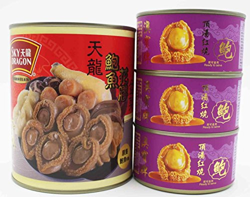 China Good Food Set-8 Canned Bowl Feast (1 can) x Canned Abalone 6 pieces (3 can) Free Airmail by China Good Food
