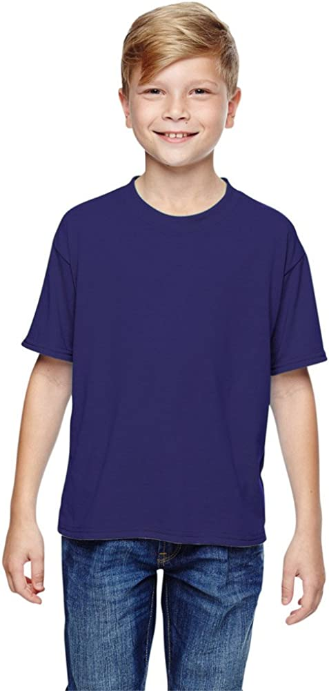 100/% Polyester SPORT with Moisture-Wicking T-Shirt Jerzees Youth 5.3 oz. - DEEP PURPLE,M 21B