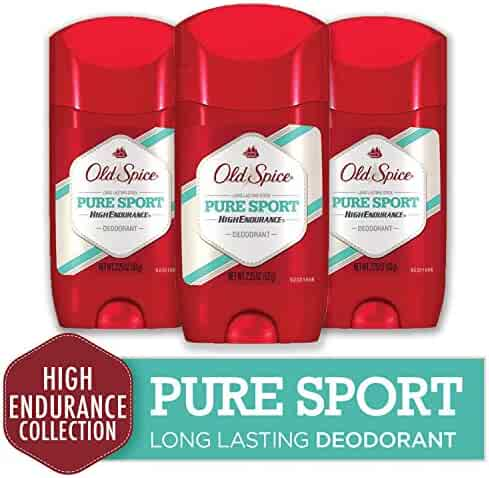 Old Spice Deodorant for Men, Pure Sport Scent, High Endurance, 3.0 oz (Pack of 3)