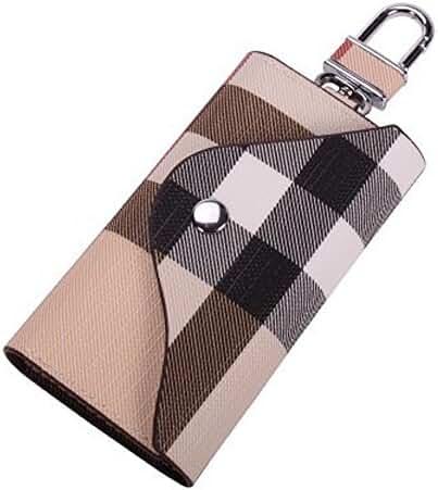 PU Leather Plaid Key Car Wallets Car Key Holder Bag Key Purse Pouch by Linsam