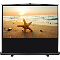 """ARKSEN   Pull Up Projector Screen   92"""" Inch   4:3 HD   Portable Home Theater   Aluminum Case w/ Handle   Black"""
