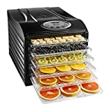 Chefman Food Dehydrator Machine Professional Electric Multi-Tier Preserver, Meat or Beef Jerky Maker, Fruit & Vegetable Dryer with 6 Slide Out Trays and Transparent Door - RJ43-SQ-6