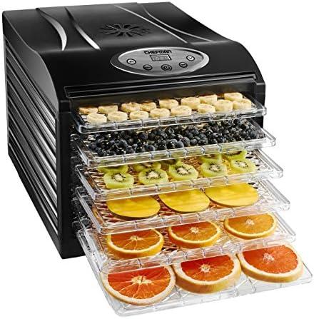 Chefman Food Dehydrator Machine Professional Electric Multi-Tier Food Preserver, Meat or Beef Jerky Maker, Fruit Vegetable Dryer with 6 Slide Out Trays Transparent Door