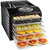 Chefman Food Dehydrator Machine Professional Electric Multi-Tier Food Preserver, Meat or Beef Jerky Maker, Fruit & Vegetable Dryer with 6 Slide Out Trays & Transparent Door - RJ43-SQ-6
