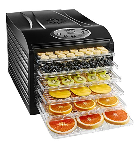 Make Beef Jerky Dehydrator - Chefman Food Dehydrator Machine Professional Electric Multi-Tier Food Preserver, Meat or Beef Jerky Maker, Fruit & Vegetable Dryer with 6 Slide Out Trays & Transparent Door - RJ43-SQ-6