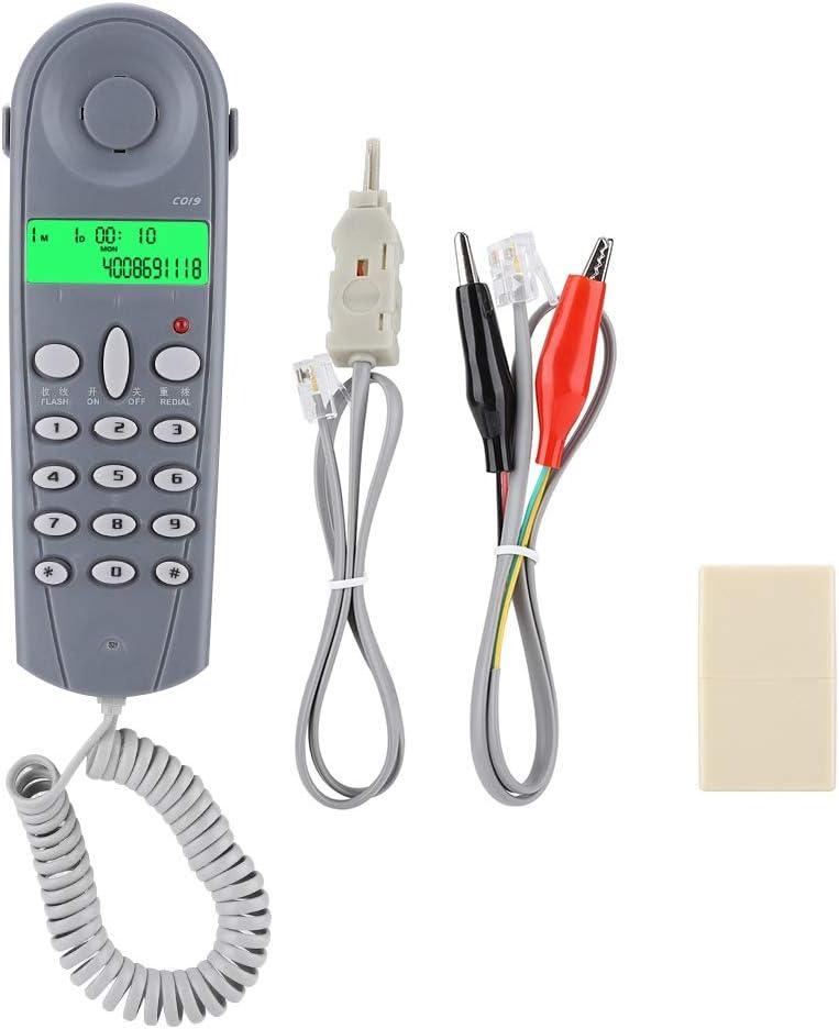 Bleu C019 Testeur de Ligne t/él/éphonique Filaire T/él/éphone Lineman Butt Check Connector Corded Phone Cable Tool Jacksking Testeur de c/âble t/él/éphonique