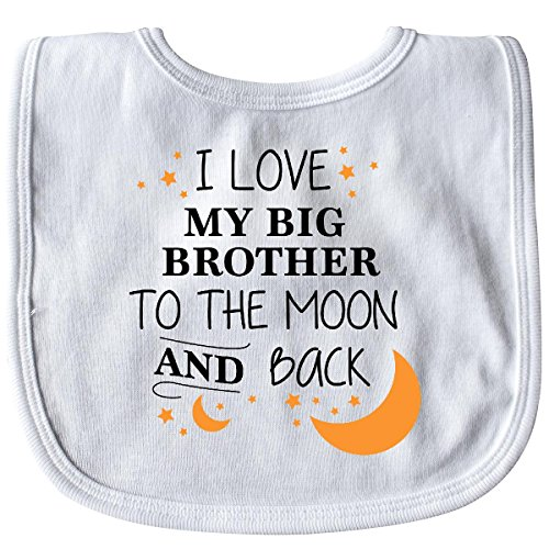 Inktastic - I Love My Big Brother To The Moon and Back Baby Bib White (Big Brother Bib)
