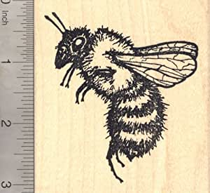 Extra large bee rubber stamp arts crafts for Rubber stamps arts and crafts