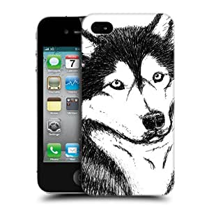 Head Case Designs Dog Sketch Hand Drawn Animals Protective Snap-on Hard Back Case Cover for Apple iPhone 4 4S