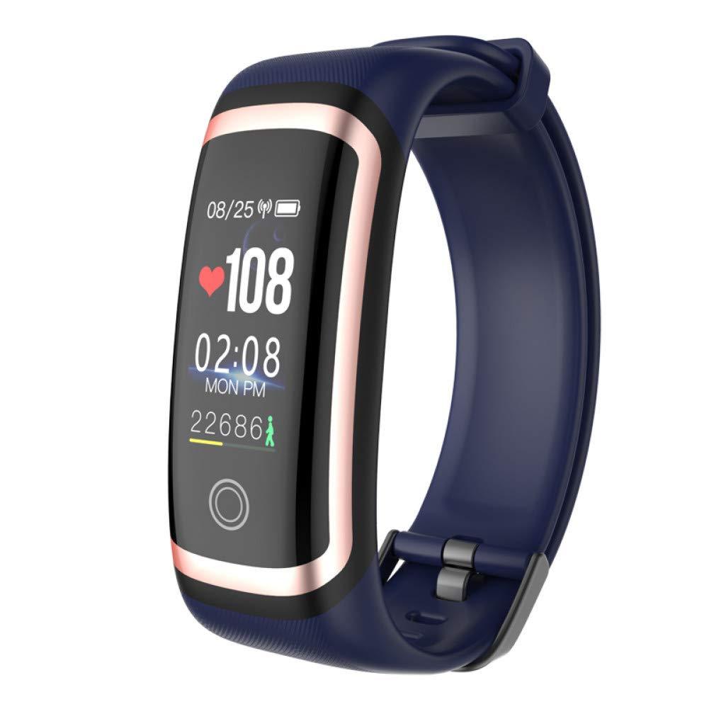Bleu HHCUIJ Bracelet Intelligent Bracelet Intelligent bleutooth Calories Sport Tracker Fitness Tracker Imperméable Ip67 De La Pression Artérielle