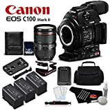 Canon EOS C100 Mark II with Dual Pixel CMOS AF & EF 24-105mm f/4L IS II USM Zoom Lens Kit International Version (No Warranty)- Platinum Level Bundle