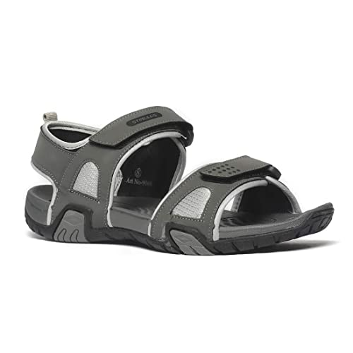 9ad57b214 PARAGON Men Grey Stimulus Sports Sandals  Buy Online at Low Prices in India  - Amazon.in